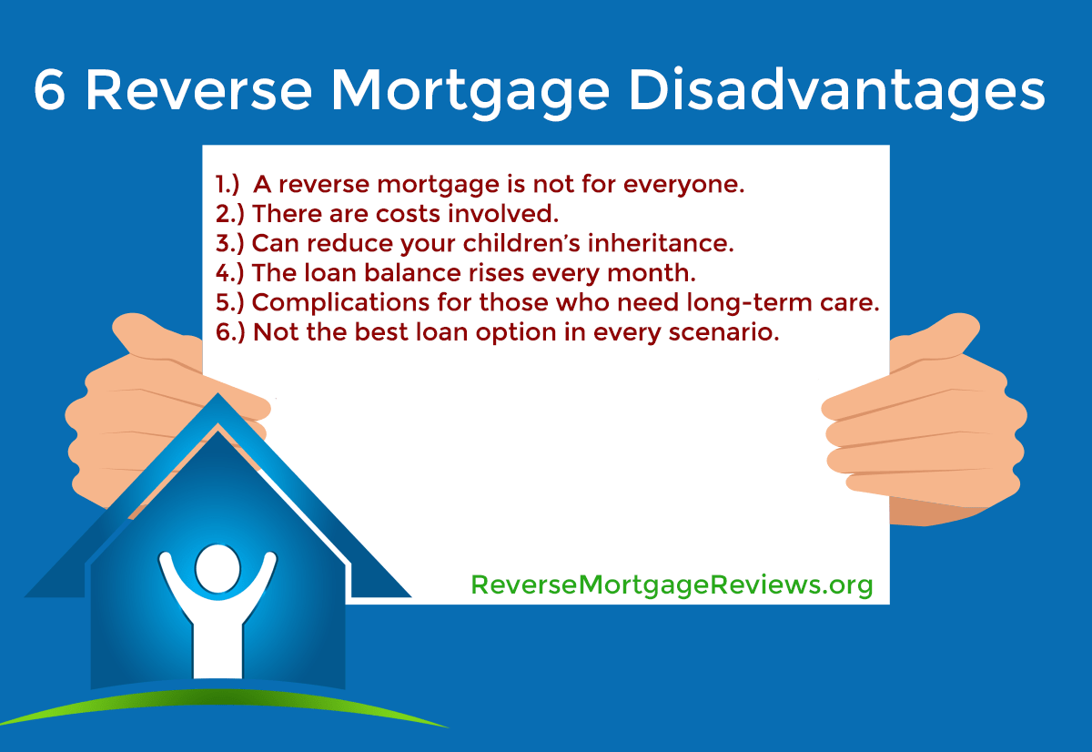 6 reverse mortgage disadvantages